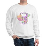 Hechi China Map Sweatshirt