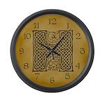 Celtic Letter H Large Wall Clock