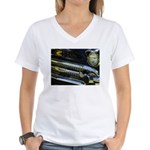 Black Chrome Women's V-Neck T-Shirt