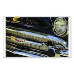 Black Chrome Rectangle Sticker 50 pk)
