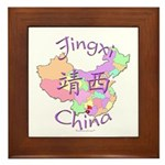Jingxi China Map Framed Tile