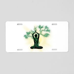 YOGA-MEDITATION Aluminum License Plate
