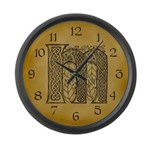 Celtic Letter M Large Wall Clock
