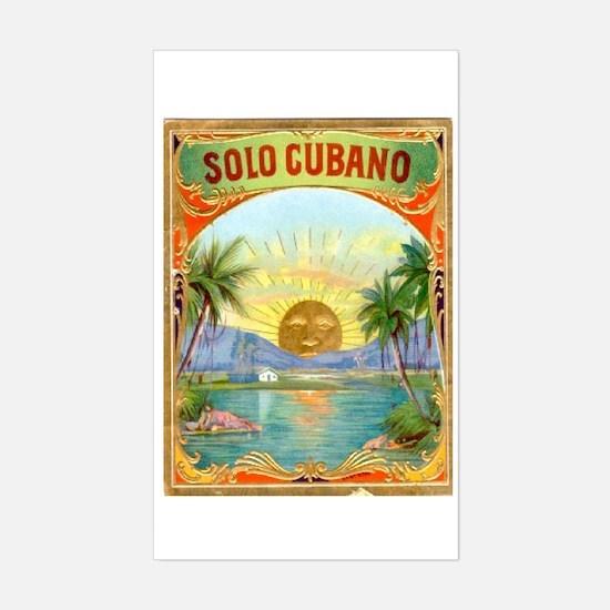 Solo Cubano Cigar Art Rectangle Decal