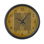 Celtic Letter N Large Wall Clock