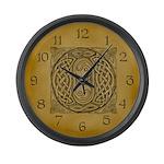 Celtic Letter O Large Wall Clock