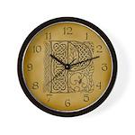 Celtic Letter P Wall Clock