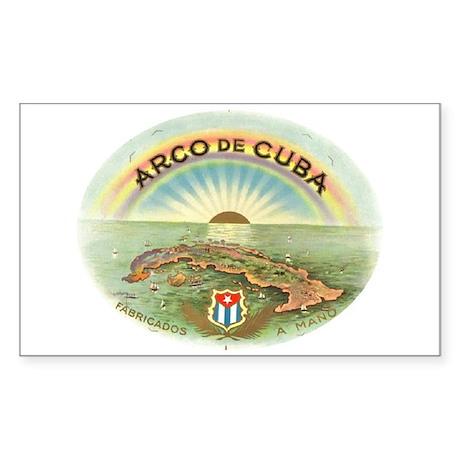 Arco de Cuba Cigar Rectangle Sticker