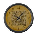 Celtic Letter Q Large Wall Clock
