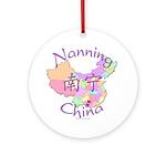 Nanning China Map Ornament (Round)