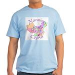 Nanning China Map Light T-Shirt