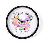 Nanning China Map Wall Clock