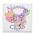 Nanning China Map Tile Coaster