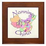 Nanning China Map Framed Tile