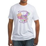 Nanning China Map Fitted T-Shirt