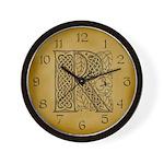 Celtic Letter R Wall Clock