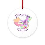Pingnan China Map Ornament (Round)