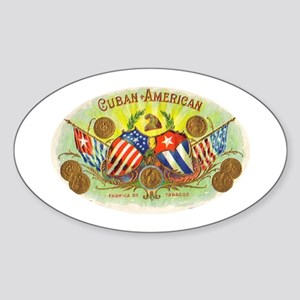 Cuban-American Cigars Oval Sticker