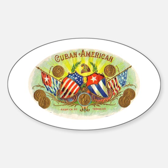 Cuban-American Cigars Oval Decal