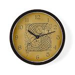 Celtic Letter S Wall Clock