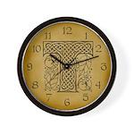 Celtic Letter T Wall Clock