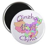 Qinzhou China Map Magnet