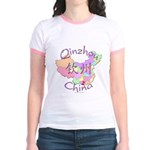Qinzhou China Map Jr. Ringer T-Shirt