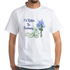 Gardening Caterpillar White T-Shirt