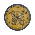 Celtic Letter W Wall Clock