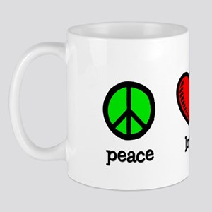 Peace, Love and Coffee - Mug
