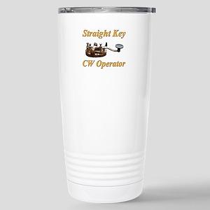Straight Key CW Operator Stainless Steel Travel Mu
