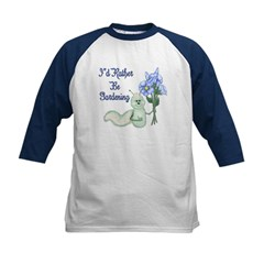 Gardening Caterpillar Kids Baseball Jersey