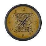Celtic Letter Z Large Wall Clock