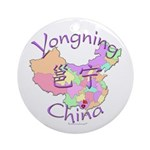 Yongning China Map Ornament (Round)