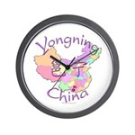 Yongning China Map Wall Clock