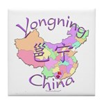 Yongning China Map Tile Coaster