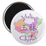 Yulin China Map Magnet