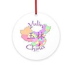 Yulin China Map Ornament (Round)