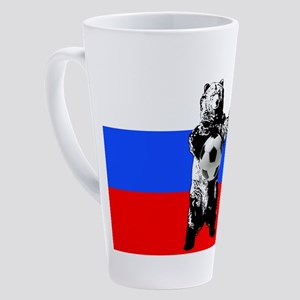 Russian Football Flag 17 oz Latte Mug