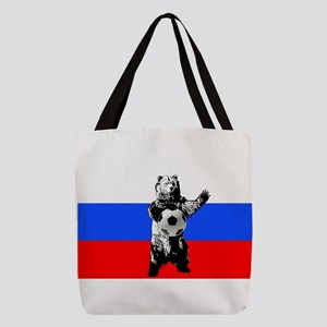 Russian Football Flag Polyester Tote Bag