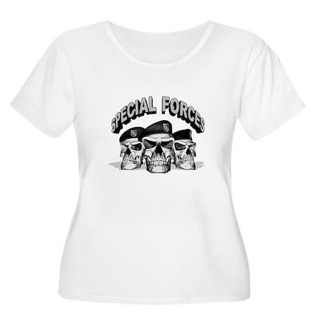Special Forces Women's Plus Size Scoop Neck T-Shir
