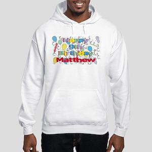 Matthew's 9th Birthday Hooded Sweatshirt