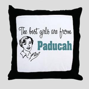 Best Girls Paducah Throw Pillow