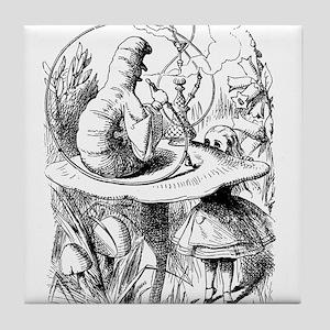 Alice meets the Caterpillar Tile Coaster