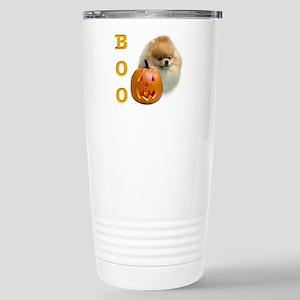 Pomeranian Boo Stainless Steel Travel Mug