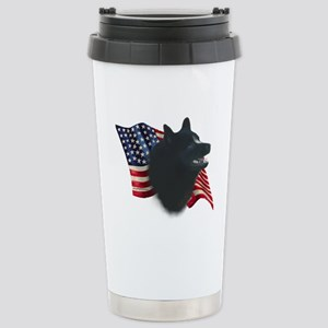 Schipperke Flag Stainless Steel Travel Mug