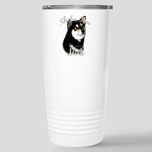 Shiba(blk) Mom2 Stainless Steel Travel Mug
