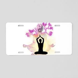 YOGA & MEDITATION Aluminum License Plate