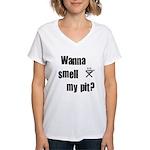 BBQ - Wanna Smell My Pit? Women's V-Neck T-Shirt