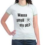 BBQ - Wanna Smell My Pit? Jr. Ringer T-Shirt